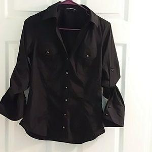 Express Design Studio black blouse